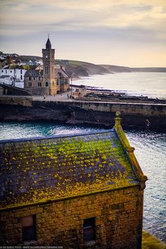 Such a pretty roof - Porthleven, Cornwall with the old lifeboat house in the foreground Devon And Cornwall, Cornwall England, England Uk, West Cornwall, The Places Youll Go, Places To See, St Just, English Countryside, British Isles