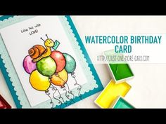 Belated Birthday Card with Gerda Steiner Designs Clear Stamps - YouTube