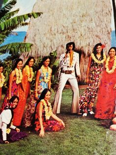 "The 98bottles vintage record find of the year: a beautiful slip cover for a 1973 Elvis record, featuring a dreamy Hawaiian scene, found this week at a thrift store in Alameda, Calif.    This ""Aloha from Hawaii via Satellite"" album didn't have the cardboard cover, unfortunately, but what a gem for 70 cents!"