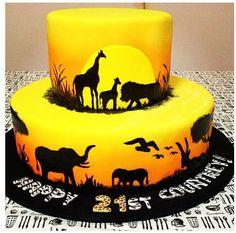 Resultado de imagen para lion king silhouette stencil cake