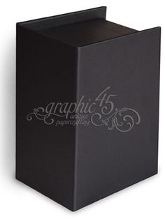 Reneabouquets New Item Listing~Graphic 45 Staples Black ATC Book Box, Includes Box and Tags With Binder Ring