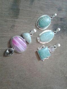 Amazonite pendants