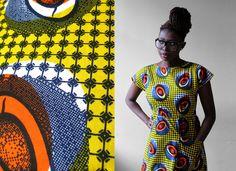 african wax cotton handmade dress size SM