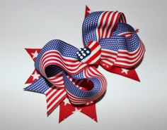 4th of July Layered Hair Bow - $3.99.