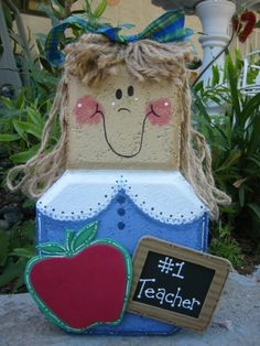 Garden Decor  Ms Teacher or Principal by SunburstOutdoorDecor, $22.00