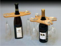 Wein Weinflasche Wine Bottle Toppers Four Glass von WadeCreations