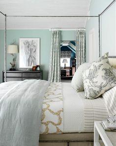 Pasztell-zöld hálószoba