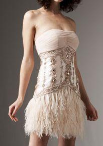 Blumarine Strapless Sheeth Dress. Sue Wong Beaded Feather Dress