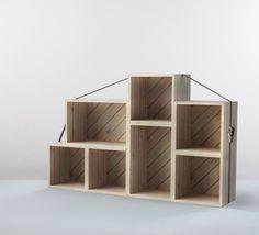 #kimidori shelving system – 100% upcycling, 100% craftsmanship, 100% design    © 2013 Daniel Becker, kimidori eG    http://www.kimidori.de http://www.startnext.de/kimidori-neue-moebel/