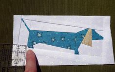 Tiny Fabric Pieces! Pattern from Janet Kime's book - It's Raining Cats & Dogs