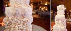 Such a stunning white wedding cake- the details reflect the architecture of the venue. Phoenix Bride and Groom, Arizona Biltmore, Emily Snitzer Photography, Sedona Cake Couture #wedding #white #cake