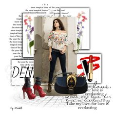 """""""#denim"""" by crisvalx-cv ❤ liked on Polyvore featuring Dolce&Gabbana and denim"""