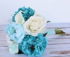 79ef43203b Matrimonio Aqua Mint Teal turchese Calla Lilies di Wedideas Blu Nozze,  Matrimonio Tiffany, Fiori