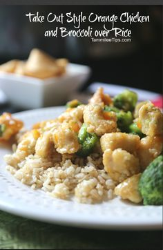 Take Out Style Orange Chicken and Broccoli over Rice Recipe! Make this restaurant copy cat recipe at home! Super easy to make this is a great family dinner recipe!