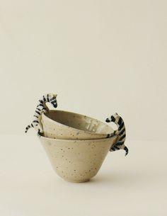 DELICATESSEN LUSESITA Brown Paper, Crock, Rising Sun, Decorative Bowls, Spiral, Zebras, Mugs, Couple, Porcelain