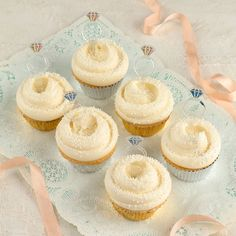"How delicious do these look... I'm drooling. ""You're Engaged"" Cupcakes from Magnolia Bakery. They ship!"