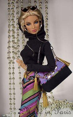 "Barbie poshness....""Trendy Stripes"" Fashion"