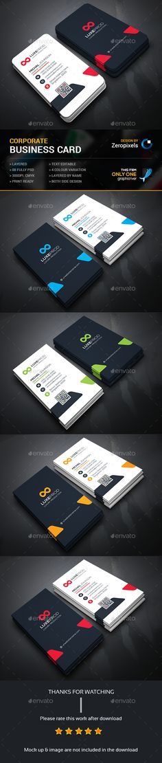 Corporate Business Card Template PSD. Download here: http://graphicriver.net/item/corporate-business-card/15620673?ref=ksioks