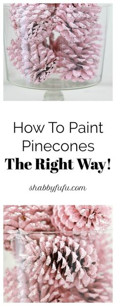 Secrets To Painting Pinecones For Christmas The Right Way is part of Nature crafts Pinecones - Painting pinecones is perfect for any holiday decorating because pinecones and free and so this is budget friendly! Make a batch of painted pinecones DIY! Pine Cone Art, Pine Cone Crafts, Christmas Projects, Holiday Crafts, Painting Pine Cones, Pine Cone Wreath, Diy Wreath, Christmas Pine Cones, Pink Christmas