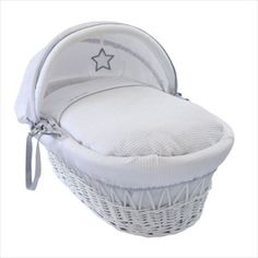 Clair De Lune Fleece Liner//Dressing For Moses//Wicker Basket White