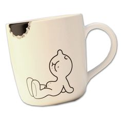 Mug Mr. P Bite Propaganda Chaiyet Plypetch Ceramic Mugs, Ceramic Pottery, Ceramic Art, Hand Painted Mugs, Painted Plates, Diy Mugs, Diy Sharpie Mug, Diy Becher, Transfer Images To Wood