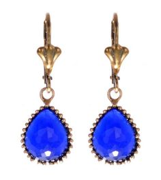 Hurrem Sultan Antique Sapphire Gemstone Vintage Drop and Dangle Earring