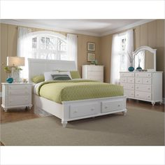 Hayden Place Panel Storage Bed 5 Pc Bedroom Set in White - 4649-5Pc-SleighStorageBed-Set - Lowest price online on all Hayden Place Panel Storage Bed 5 Pc Bedroom Set in White - 4649-5Pc-SleighStorageBed-Set