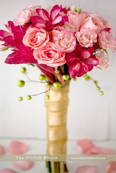 pink bouquet. Love the small Bright pink flowers