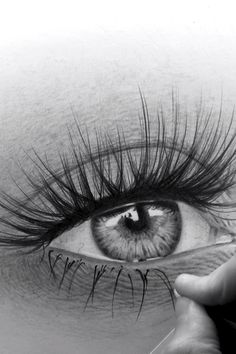Art Drawings Beautiful, Dark Art Drawings, Art Drawings Sketches Simple, Pencil Art Drawings, Realistic Drawings, Eye Pencil Drawing, Drawing Of An Eye, Human Eye Drawing, Amazing Drawings