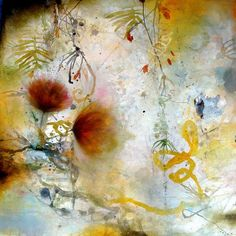 """Art by Deedra Ludwig -- """"Deep Sublime""""; 2014; Oil, wash and mixed media on canvas; 25"""" x 25"""" [LU 190]"""