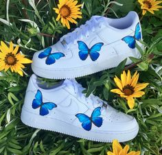 Check out our nike air force 1 customs selection for the very best in unique or custom, handmade pieces from our shoes shops. Sneakers Mode, Custom Sneakers, Custom Shoes, Sneakers Fashion, Fashion Shoes, Fashion Outfits, White Nike Shoes, Vans Shoes, Shoes Sneakers