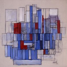 """""""Abstraction III"""", 1964, Robert Goodnough, American (1917-2010), acrylic on canvas, 60 x 60 in. Gift of the artist, 1969. 1969.1683"""