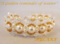 """How to do bracelet """"Golden Reminder"""""""