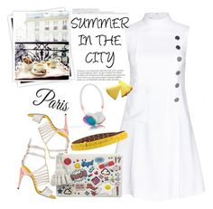 """""""Summer in the city"""" by naki14 ❤ liked on Polyvore featuring Miu Miu, MM6 Maison Margiela, Fendi, WallPops, Anya Hindmarch and GALA"""