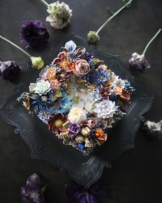 """좋아요 628개, 댓글 18개 - Instagram의 청담 수케이크 (atelier soo)(@soocake_ully)님: """"ㅡ Obstinate. Soo. ㅡ #flower #cake #flowercake #partycake #birthday #weddingcake #buttercreamcake…"""""""