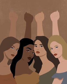 Black Girl Art, Black Art, Art Girl, Arte Do Kawaii, Feminist Art, Arte Pop, Aesthetic Art, Aesthetic Pictures, Cartoon Art