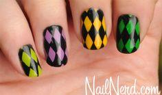 Nail Nerd (nail art for nerds) » How To: Mardi Gras Harlequin Nails