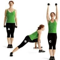 20 Minute Workout that Works Every Muscle! [shown --> Rotational Lunge and Shoulder Press] via Women's Health Best Weight Loss, Weight Lifting, Weight Training, Weight Gain, Cardio, Total Body Toning, 20 Minute Workout, Womens Health Magazine, Lose 50 Pounds
