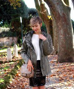 pictures source at www.coffeeblooms.com  http://www.coffeeblooms.com/coffeeblooms/2015/01/wool-sequins-bikers/  #black #white #sequins #parka #fashion #style #look #outfit #closet #wear #dressup #fashionable #chic #streetstyle #style
