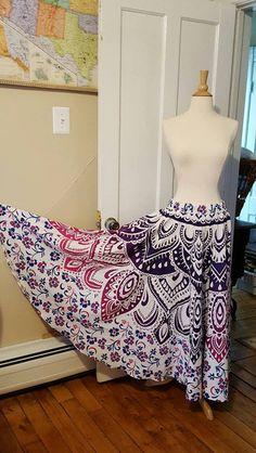 Evening Skirts – Mandala's Casual High Waist Women Skirts – a unique product by IndianCraftPalace on DaWanda