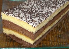 Recipe - Neapolitan cake biscuit - Rated by users Hungarian Desserts, Romanian Desserts, Romanian Food, Hungarian Recipes, Neapolitan Cake, My Recipes, Cooking Recipes, Torte Cake, Savoury Cake