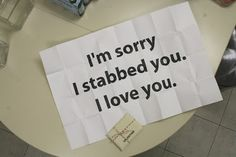 I'm sorry I stabbed you. Love you. Writing Prompt by cuteandcurvey Creative Writing, Writing Tips, Writing Prompts, Story Inspiration, Writing Inspiration, Likes Youtube, Elf Rogue, Half Elf, Sara Fabel