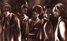 """APH Allies """"twilight of the gods"""". Art by stirringwind.tumblr.com From the artist: in norse mythology, the twilight of the gods, or ragnarok, is prophesised to result in the deaths of many of the gods- and the creation of a fertile new world. it's safe to say that had ww2 not occurred, the world today would be very very different. It destroyed the old european empires and made America a superpower- and shaped the twentieth and twenty-first century in so many other ways."""""""