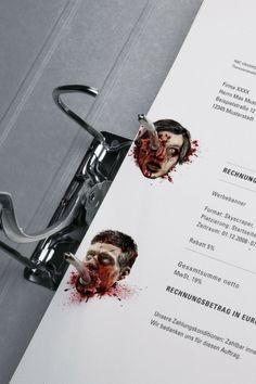 Zombie binder hole stickers