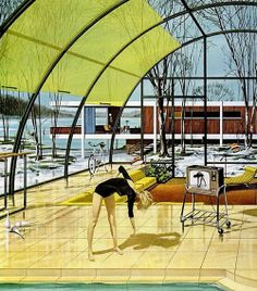 """Motorola Ads """"House of the Future"""" by Charles Scridde, early 1960s, No. 4"""