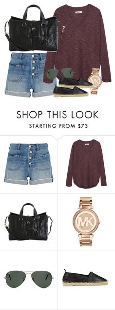 """Untitled #2308"" by erinforde ❤ liked on Polyvore featuring Madewell, Mulberry, Michael Kors, Ray-Ban and Yves Saint Laurent"