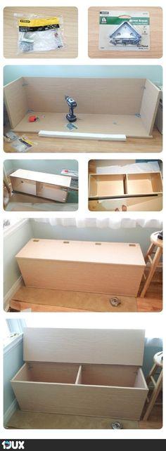 Aufbewahrungs-/Sitzbox Bauanleitung