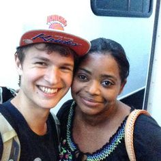 Pin for Later: Get Ready For Insurgent With Behind-the-Scenes Pics  Ansel and Octavia Spencer (Johanna) snapped a selfie on her last day of shooting in June.