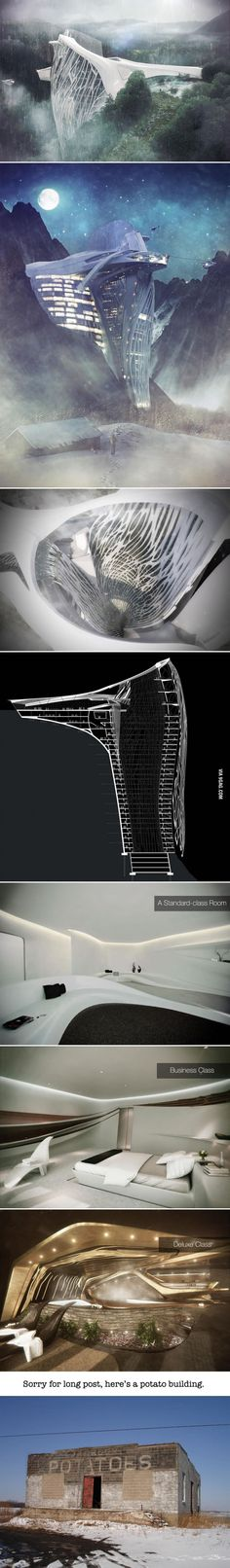 This architect came up with a new idea for a hotel in the Alps...and it's superb - 9GAG