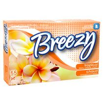 Breezy Tropical Fabric Softener Dryer Sheets, 55-Sheet Boxes